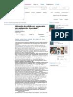 Alteração Do Edital Com o Concurso Em Andamento_ é Possível_ - Artigos - Jus Navigandi
