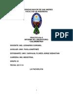 Informe Lab Quimica Calorimetria