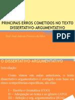 Erros dissertativos argumentativos