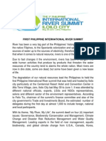 First Philippine International River Summit