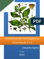 Medicamentos Homeopáticos de A a Z 2015