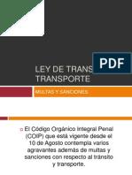Ley de Transito y Transporte Multas y Sanciones