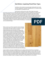 Steps To  Keep In Mind Before  Acquiring  Wood Floor Types