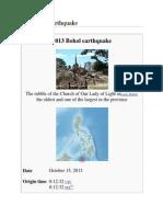 2013 Bohol Earthquake