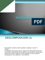 Descomposicion LU y Gauss Seidel