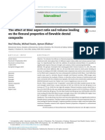 The Effect of Fiber Aspect Ratio and Volume Loading on the Flexural Properties of Flowable Dental Composite