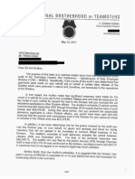 Correspondence on alleged misspending