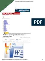 38 dicas e truques para fazer mais com o Microsoft Word - PC WORLD.pdf