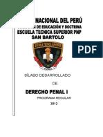 Silabo Derecho Penal i (Ets San Bartolo)