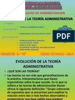Evolucion de La Teoria Administrativa