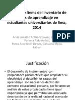 Diapositivas Informe de Inventario de Estilos de Aprendizaje
