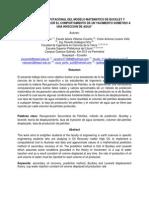 Aplicación Computacinal Del Modelo Matermatico de Buckeley y Leverett