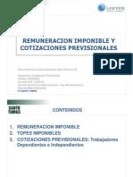 Renta Imponible y Cotizaciones Previsionales