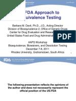 FDA[Davit 1] Bioequivalnce