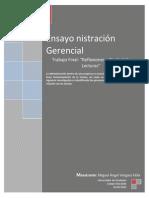Proyecto Final Materia Administración Gerencial Maestria UDO (Control de Lecturas y Reflexiones)