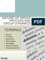 Nature of Group Process and Group Dynamics