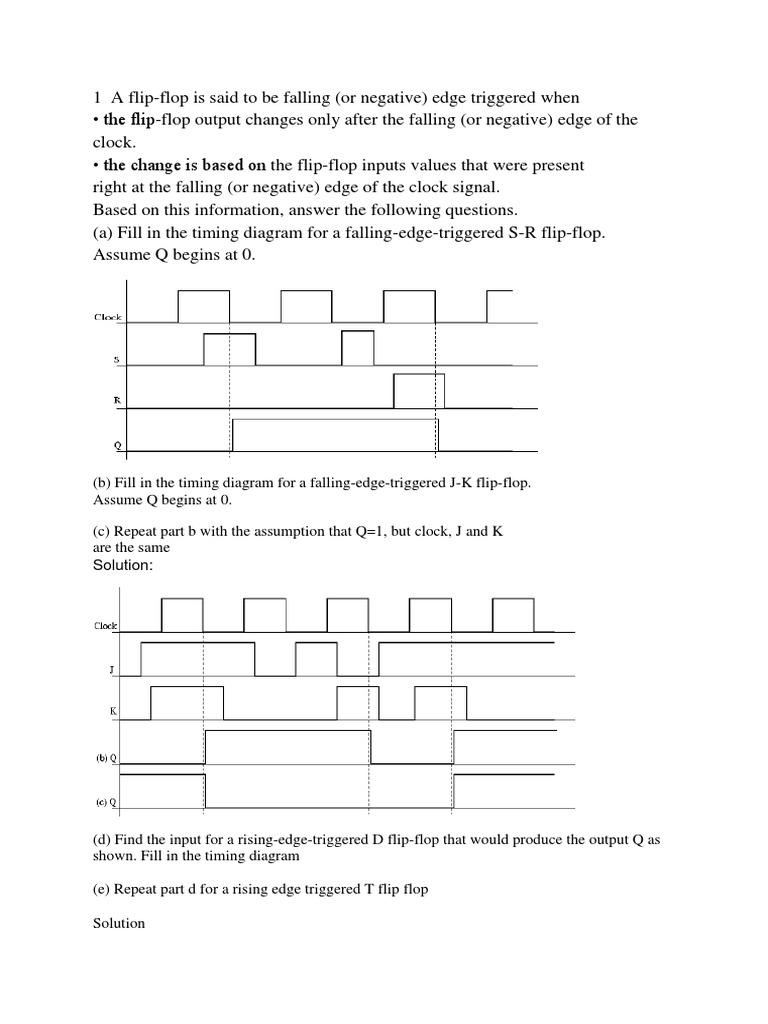Dd Co Questions Logic Electronic Engineering J K Flip Flop Diagram