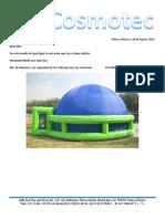 Cotización Planetario y Sistema 3D 8 Metros