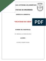 VELOCIDAD DE CAÍDA