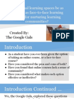 google gals - virtual learning spaces