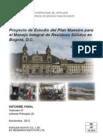 Plan Maestro de Gestión Integral de Residuos Sólidos Bogotá