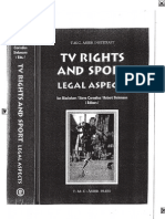 TV Rights and Sport - Legal Aspects