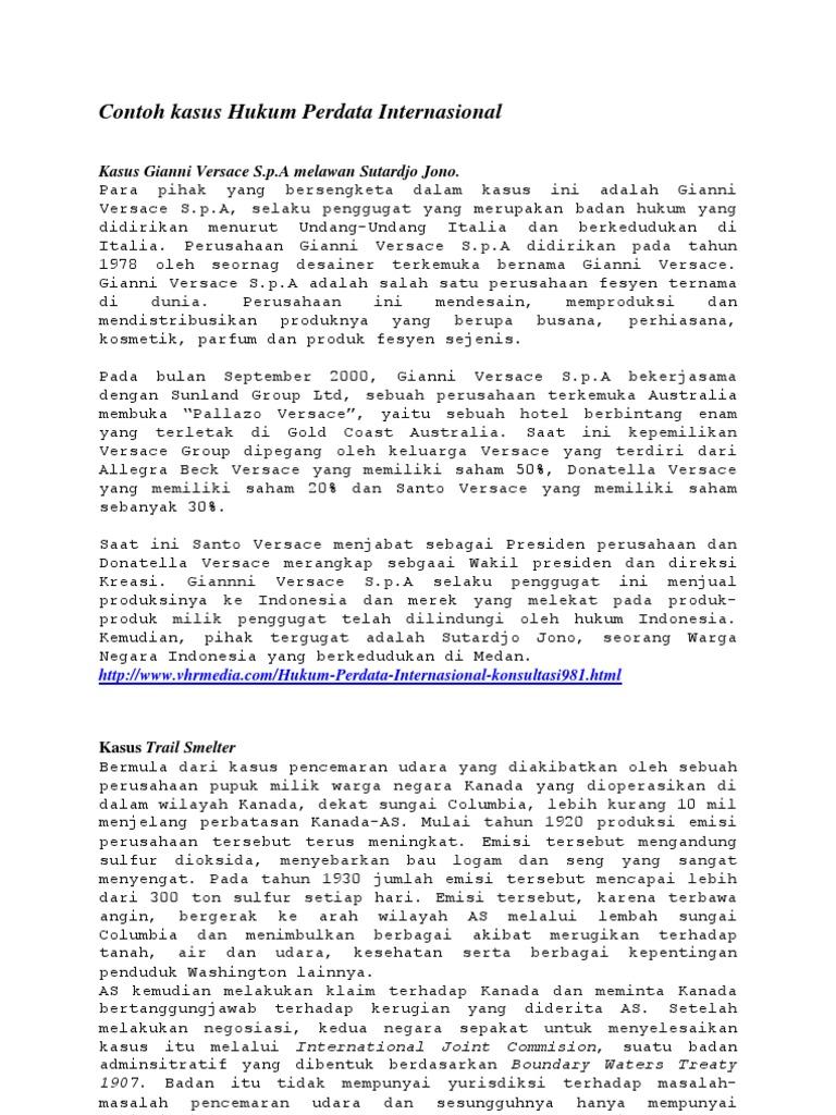 Contoh Kasus Hukum Perdata Internasional
