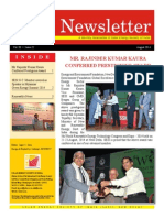 SESI Newsletter for the Month of August, 2014
