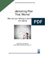Marketing Plan that works!