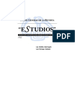 Indice Revista Estudios. 1966-2000