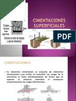 CIMENTACIONES SUPERFICIALES