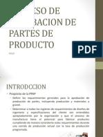 2.6 Proceso de Aprobacion de Partes de Producto