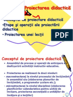Proiectarea Didactic