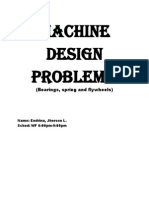 Machine Design questionnaires ( bearings, flywheels and springs)