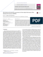 Mix Design and  Properties Assessment of Ultra-High Performance Fibre Reinforced Concrete