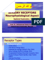 Lecture 4 on Sensory Receptors Sept