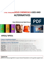 Traings on Hazardous Chemicals-Applications and Alternatives