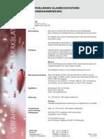 Empfehlungen Glasbeschichtung für Innenanwendung (VTM 4118)