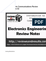 ECE Electronic Communications Review Notes - WAVE 2