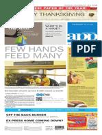 Asbury Park Press front page Thursday, Nov. 27 2014