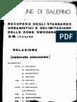 Recupero Standards e Zone Omogenee Relazione 1979