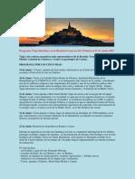 PROGRAMA EN ESPAÑOL DE VIAJE INICIATICO A Mt. SAN MICHEL - FRANCIA