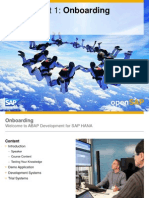 OpenSAP a4h1 Week1 Getting Started