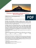 Programma Viaggio Iniziatico nella Bretagna Francese dal 19 al 23 giugno 2015