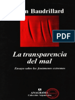 La Transparencia Del Mal