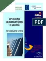 Experiencia de la Energía Solar Térmica en Andalucía 2004 - SODEAN - Junta de Andalucía