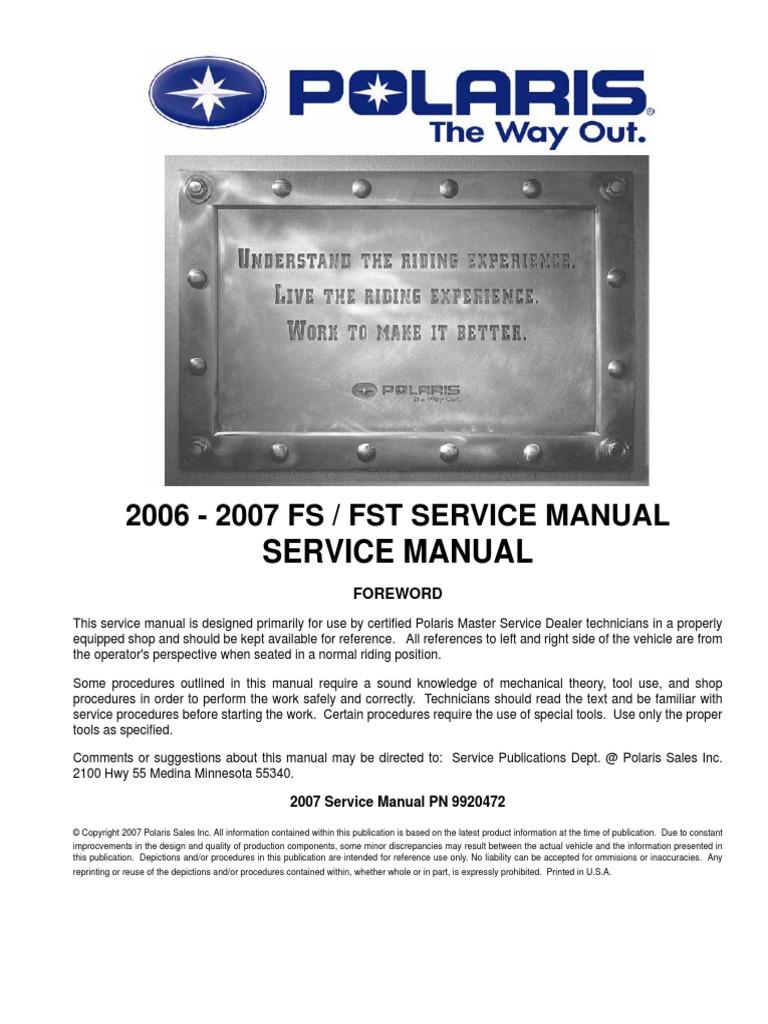 Polaris Fst (2) | Clutch | Suspension (Vehicle)