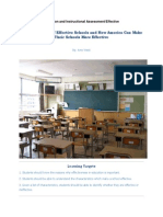 Foundations of Education and Instructional Assessment