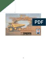 Basics of Mining Method and Extraction Equipment Productivity
