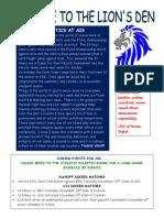 Nov. 27 Athletics Newsletter